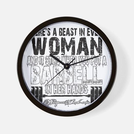 beast in every woman camo snow Wall Clock