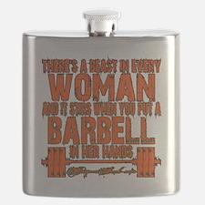 Beast in every woman Camo Hunter Flask