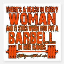 """Beast in every woman Cam Square Car Magnet 3"""" x 3"""""""