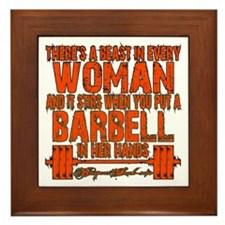 Beast in every woman Camo Hunter Framed Tile
