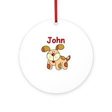 John Puppy Ornament (Round)