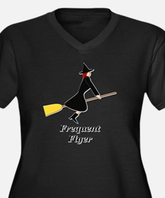 Frequent Fly Women's Plus Size Dark V-Neck T-Shirt