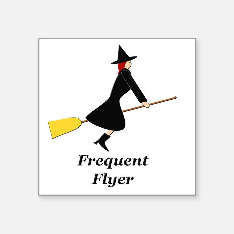 """Frequent Flyer Square Sticker 3"""" x 3"""""""