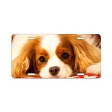 Profile Of A Cavalier King  Aluminum License Plate