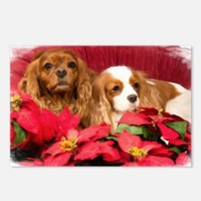 Christmas Cavalier KIng C Postcards (Package of 8)