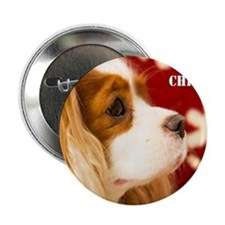 """Merry Christmas With Cavalier King Ch 2.25"""" Button"""