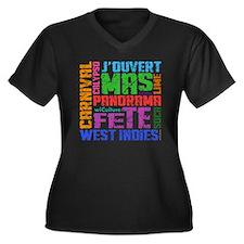 Carnival Key Women's Plus Size Dark V-Neck T-Shirt