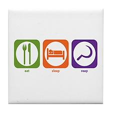 Eat Sleep Reap Tile Coaster