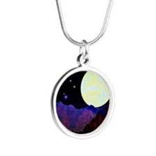 Valley of the Moon Silver Round Necklace