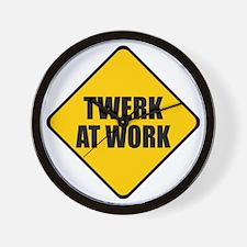 Twerk At Work Wall Clock