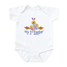 Blue 1st Easter duck! Infant Bodysuit