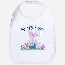 Boy first Easter Bunny! Bib