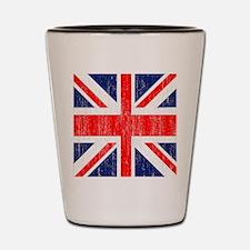 Distressed Union Jack Queen duvet Shot Glass