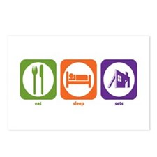 Eat Sleep Sets Postcards (Package of 8)