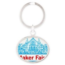 Cincinnati Maker Faire Oval Keychain