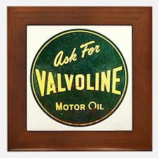 Valvoline Vintage dieselpunk signboard Framed Tile