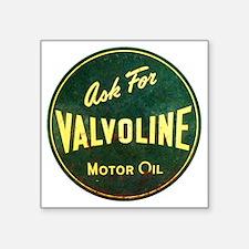 "Valvoline Vintage dieselpun Square Sticker 3"" x 3"""