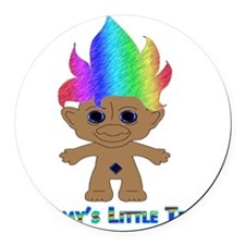 Mommys Little Troll Round Car Magnet