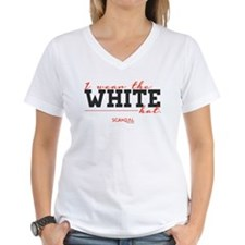 I Wear the White Hat Women's V-Neck T-Shirt