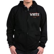 I Wear the White Hat Zip Hoodie (dark)