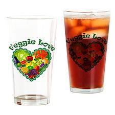 Veggie Love Drinking Glass