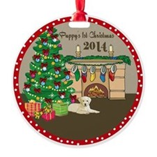 2014 Yellow Labs 1St Christmas Ornament