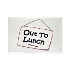 Out to Lunch Rectangle Magnet