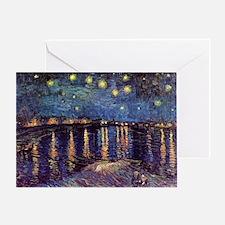 Van Gogh Starry Night Over The Rhone Greeting Card