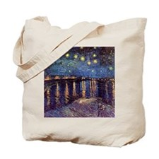 Van Gogh Starry Night Over The Rhone Tote Bag