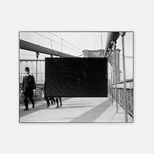 Brooklyn Bridge Pedestrians Picture Frame