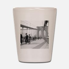 Brooklyn Bridge Pedestrians Shot Glass