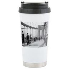 Brooklyn Bridge Pedestr Travel Mug