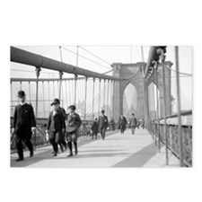 Brooklyn Bridge Pedestria Postcards (Package of 8)