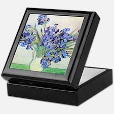 Still Life: Vase with Irises by Vince Keepsake Box