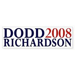 Dodd-Richardson 2008 bumper sticker