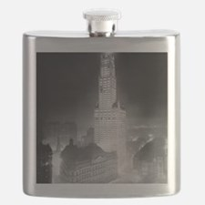 Woolworth Building at Night Flask