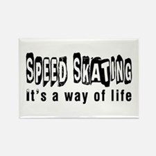 Speed Skating it is a way of life Rectangle Magnet