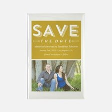 11-lightgreensavethedate Rectangle Magnet