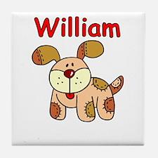 William Puppy Tile Coaster