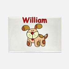 William Puppy Rectangle Magnet