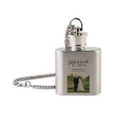 240-marriedtext Flask Necklace