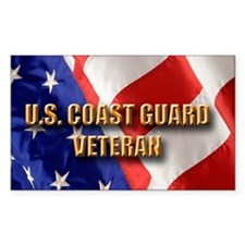usa uscg vet Decal
