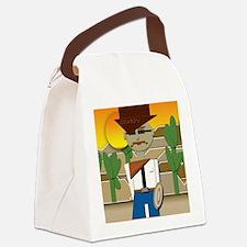 Cowboy Canvas Lunch Bag