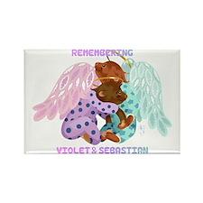 Violet and Sebastian Rectangle Magnet