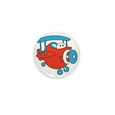 Chubby Plane Mini Button
