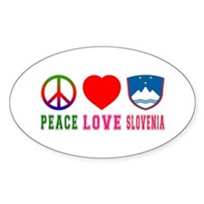 Peace Love Slovenia Decal