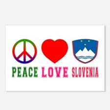 Peace Love Slovenia Postcards (Package of 8)