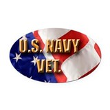 Navy Oval Car Magnets