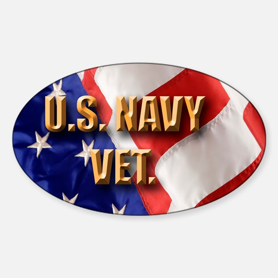 usa navy vet Sticker (Oval)