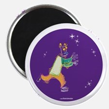 Clowny Mime Bear [purple] Magnet